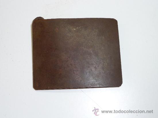 ANTIGUA HEBILLA DE MILICIANO REPUBLICANO, GUERRA CIVIL (Militar - Cinturones y Hebillas )