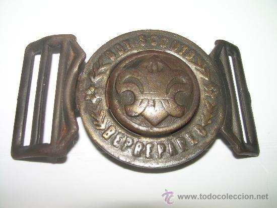 ANTIGUA Y RARA HEBILLA DE CINTURON...BOY SCOUTS...BEPREPAREO (Militar - Cinturones y Hebillas )