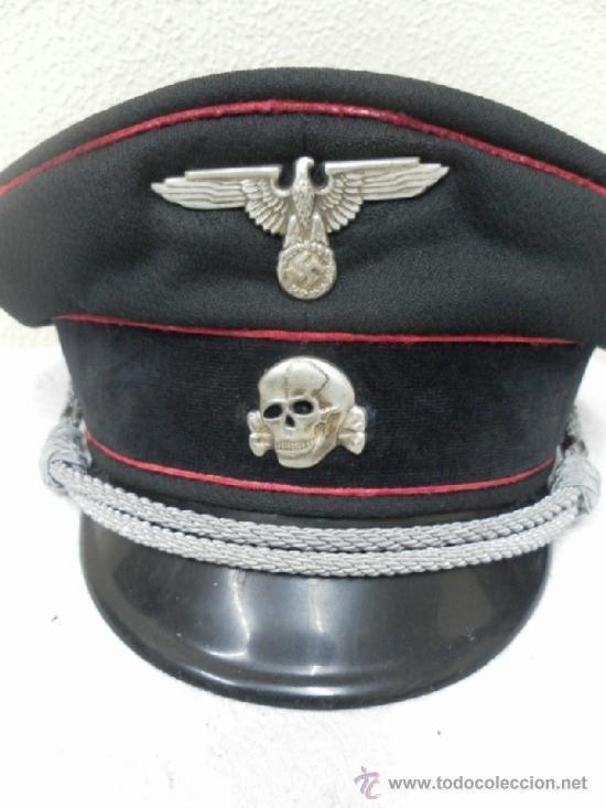 REPRODUCCIÓN. II GUERRA MUNDIAL. GORRA ALEMANA. (Militar - Boinas y Gorras )