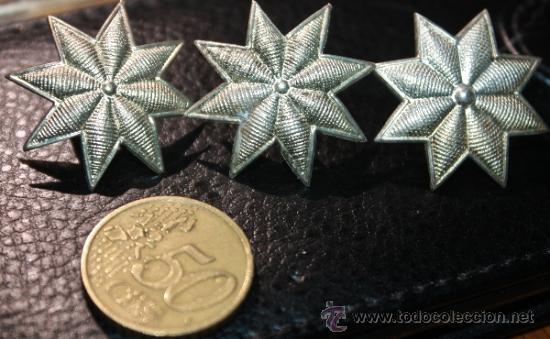 Tres Estrellas De 8 Puntas Plateadas Epoca De A Comprar En