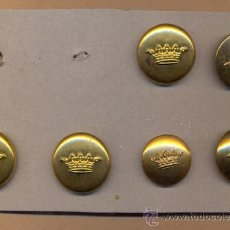 Militaria: AM 14 ABOTONADURA CON CORONA CONJUNTO DE 6 BOTONES SOBRE 23 MM DIÁMETRO - CHAPADOS MOISES SANCHA. Lote 37427523