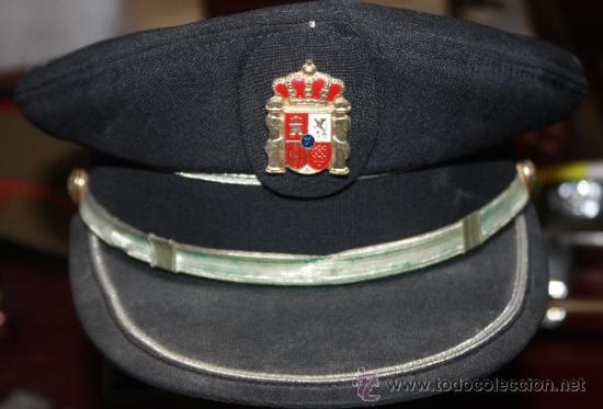 ANTIGUA GORRA DE PLATO .POLICIA MUNICIPAL ,LOCALIDAD CADIZ (Militar - Boinas y Gorras )