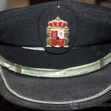 Militaria: ANTIGUA GORRA DE PLATO .POLICIA MUNICIPAL ,LOCALIDAD CADIZ. Lote 37610012