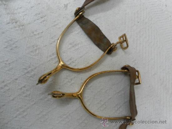 Militaria: Espuelas doradas de general. Época de Alfonso XIII. - Foto 3 - 37801451