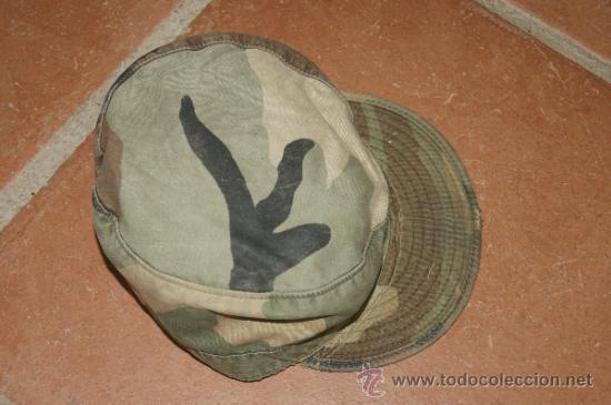 Militaria: Antigua gorra de camuflaje americana, original, estados unidos - Foto 2 - 38592265