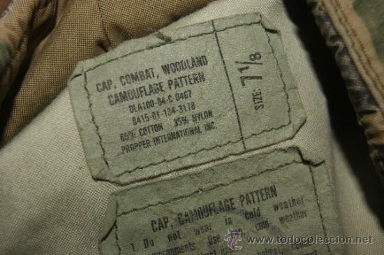 Militaria: Antigua gorra de camuflaje americana, original, estados unidos - Foto 5 - 38592265