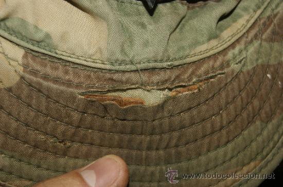 Militaria: Antigua gorra de camuflaje americana, original, estados unidos - Foto 7 - 38592265