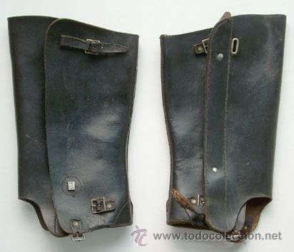 ANTIGUAS POLAINAS DE CUERO (Militar - Botas y Calzado)
