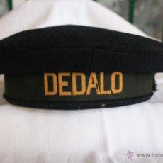 Militaria: GORRA DE MARINERO DEL PORTAAVIONES ESPAÑOL DEDALO. Lote 39319956