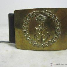 Militaria: CINTURÓN DE MARINA,ÉPOCA DE ALFONSO XIII. Lote 39405791