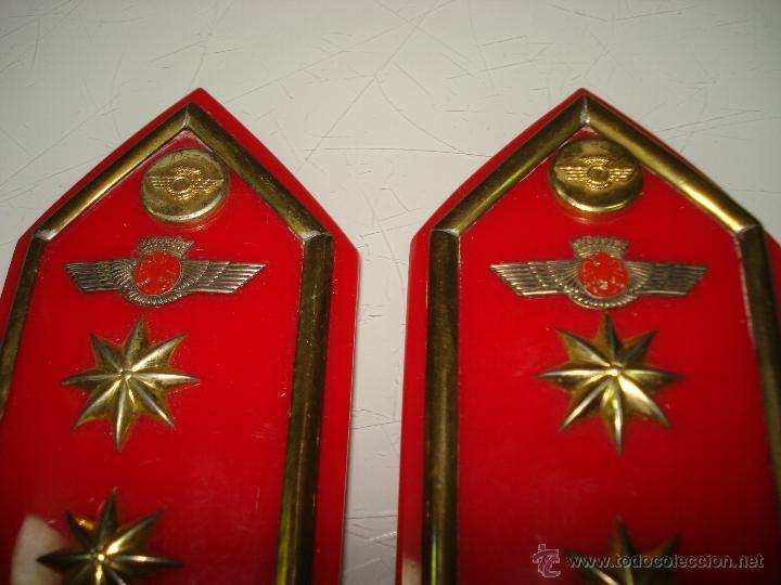 Militaria: Antiguas Hombreras de TENIENTE CORONEL del Ejercito del Aire . Epoca de Franco - Foto 5 - 39579256