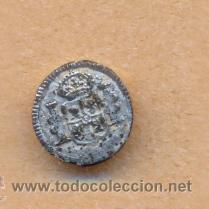MON 883 BOTÓN ESCUDO ESPAÑA REVERSO L SOBRE 13 MM (Militar - Botones )