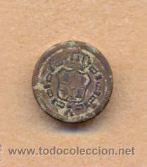 MON 884 BOTÓN ESCUDO ESPAÑA REVERSO L SOBRE 15 MM (Militar - Botones )