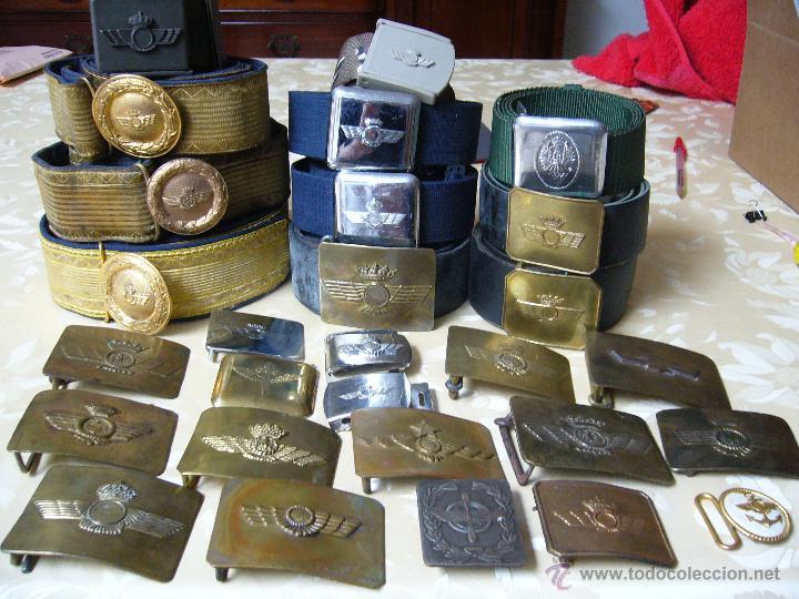 COLECCIÓN DE CINTURONES Y HEBILLAS DE LA AVIACIÓN ESPAÑOLA (Militar - Cinturones y Hebillas )