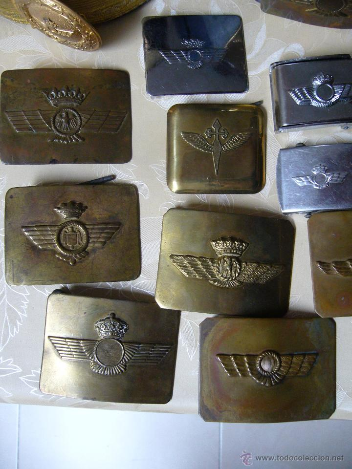 Militaria: Colección de cinturones y hebillas de la aviación española - Foto 2 - 39914107