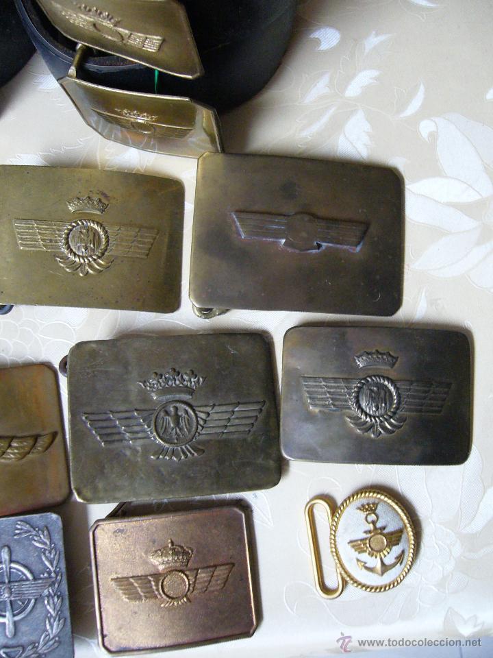 Militaria: Colección de cinturones y hebillas de la aviación española - Foto 4 - 39914107