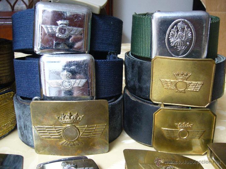 Militaria: Colección de cinturones y hebillas de la aviación española - Foto 5 - 39914107