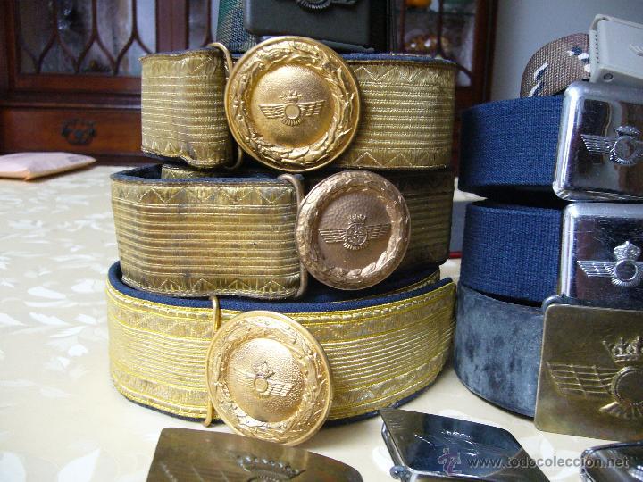 Militaria: Colección de cinturones y hebillas de la aviación española - Foto 6 - 39914107