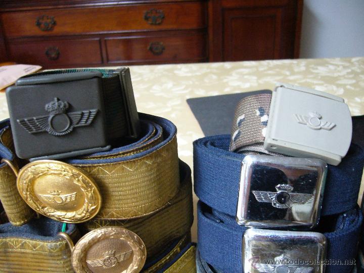 Militaria: Colección de cinturones y hebillas de la aviación española - Foto 7 - 39914107