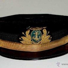 Militaria: ANTIGUA GORRA DE MARINA DE GUERRA ESPAÑOLA. JEFES Y OFICIALES. CUERPO DE MAQUINAS DE LA ARMADA. ÉPOC. Lote 38264358