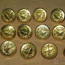 Militaria: 16 BOTONES DE UNIFORME DE GENERAL EPOCA DE FRANCO, MIDEN 1,8 CMS. DE DIAMETRO. . Lote 38285129