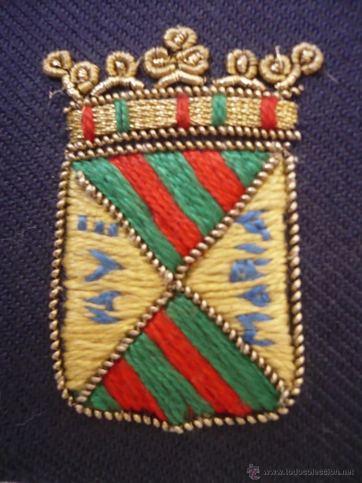 Militaria: Par de palas - hombrera de tela bordada a mano posiblemente de policía municipal de Torrelavega - Foto 5 - 40841869