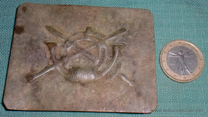 HEBILLA DE INFANTERIA GUERRA CIVIL TRINCHERA (Militar - Cinturones y Hebillas )