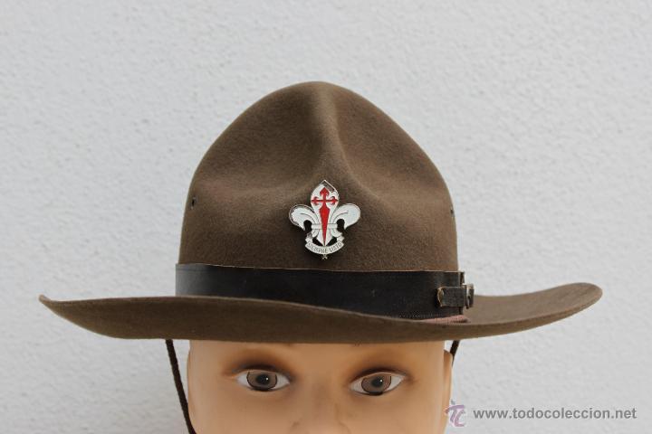 Militaria: ANTIGUO SOMBRERO DE BOY SCOUTS - Foto 2 - 41876501