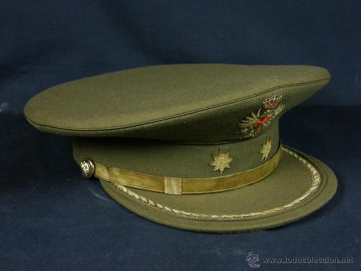 gorra uniforme militar de gala ejercito de tierra español teniente coronel  2º mitad siglo XX 44de81f8062