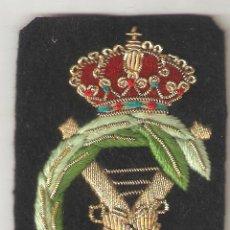 Militaria: ESCUDO BORDADO DE LA REAL ASAMBLEA ESPAÑOLA DE CAPITANES DE YATE. Lote 58719771