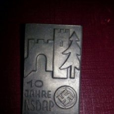 Militaria: PIN 10 JAHRE NSDAP WOLFURT, III REICH. Lote 218454315