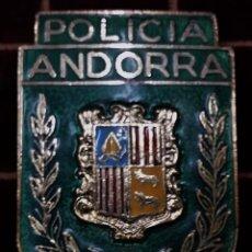 Militaria: PLACA DE PECHO DE LA POLICIA DE ANDORRA. Lote 123237056