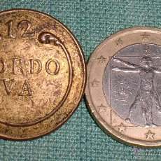 Militaria: BOTON GUERRA CARLISTA REGIMIENTO 12 CORDOBA.. Lote 43037752