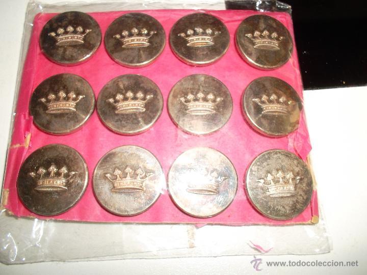 Militaria: lote de 12 botones epoca alfonso 13 - Foto 2 - 43420079
