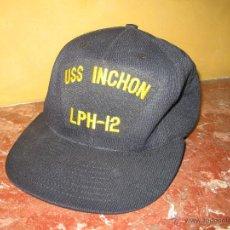 Militaria: USS INCHON LPH-12.PORTAHELICOPTEROS .GORRA ORIGINAL US.NAVY.. Lote 43456718