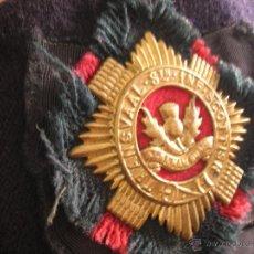 Militaria: GLENGARRY / GORRO ESCOCÉS. TRANSVAAL 8TH INFANTRY SCOTTISH. EJERCITO DE SUDAFRICA. Lote 44324459