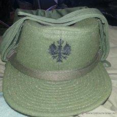Militaria: GORRA DE TROPAS DE MONTAÑA CON OREJERAS, TALLA 59. Lote 44337635