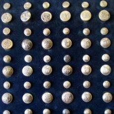 Militaria: COLECCIÓN DE BOTONES, ÉPOCA ALFONSO XIII. Lote 44360310