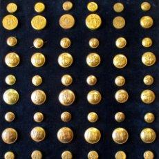 Militaria: COLECCIÓN DE BOTONES, ÉPOCA ALFONSO XIII. Lote 44360322