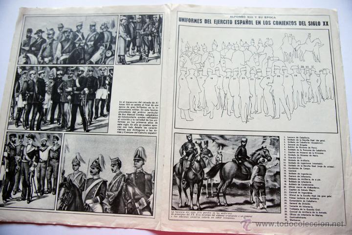 Militaria: ANTIGUO POSTER UNIFORMES DEL EJERCITO ESPAÑOL EN LOS COMIENZOS DEL SIGLO XX ÉPOCA ALFONSO XIII - Foto 2 - 44973441