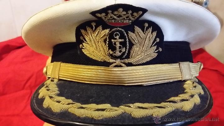 Militaria: GORRA TENIENTE CORONEL DE INFANTERIA DE MARINA ESPAÑOLA, GALLETA y DIVISAS bordadas hilo oro, - Foto 5 - 90885487