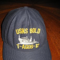 Militaria: USNS BOLD T-AGOST-12.GORRA ORIGINAL US NAVY.. Lote 45403891