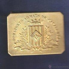 Militaria: HEBILLA SOMATENTS ARMATS DE CATALUNYA -RÉPLICA-. Lote 134970019