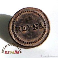 Militaria: BOTÓN DEL REG. CABALLERÍA DE LA REYNA GUERRA INDEPENDENCIA - 1788 - 1808 - MUY BUENA CONSERVACIÓN. Lote 45904454