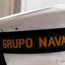 Militaria: ANTIGUO LEPANTO ARMADA ESPAÑOLA, CON CINTA DE GRUPO NAVAL DE PLAYA, MANUFACTURAS VALLE TALLA 56. Lote 45995537