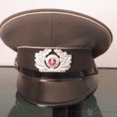 Militaria: GORRA DE PLATO DE OFICIAL MILITAR ANTIGUA ALEMANA EJERCITO ALEMANIA ORIENTAL COMUNISTA DDR WEHRMACH. Lote 46310697