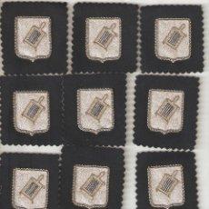 Militaria: 10 BORDADOS ESCUDO DE ALGÚN AYUNTAMIENTO.MEDIDAS 4,5X3,5 CMS.. Lote 46400610