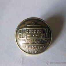 Militaria: BOTON PEQUEÑO DE LOS TRANVIAS DE MADRID - LUCAS SAENZ. Lote 46451285