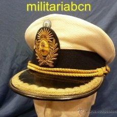 Militaria: ARGENTINA. GORRA DE PLATO DE OFICIAL. EJÉRCITO DE TIERRA. BLANCA.. Lote 46732058