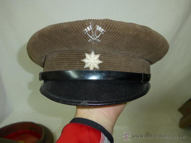 Militaria: Gorra de plato de pana original, Alfonso XIII, Republica y guerra civil, comandante de caballeria - Foto 2 - 46733772